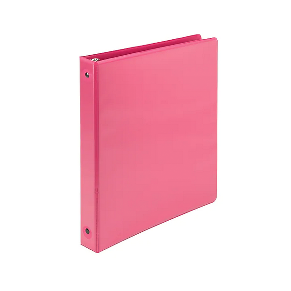 "Image For Samsill 1"" Basic Insertable Binder, Pink"