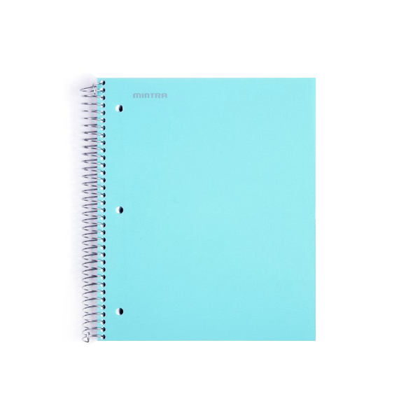 Cover Image For Mintra Spiral Single Subject Notebook, Teal