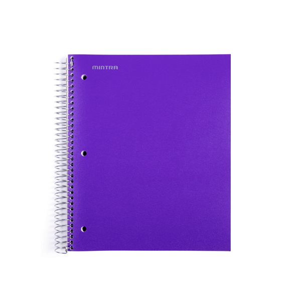 Image For Mintra Spiral Single Subject Notebook, Purple