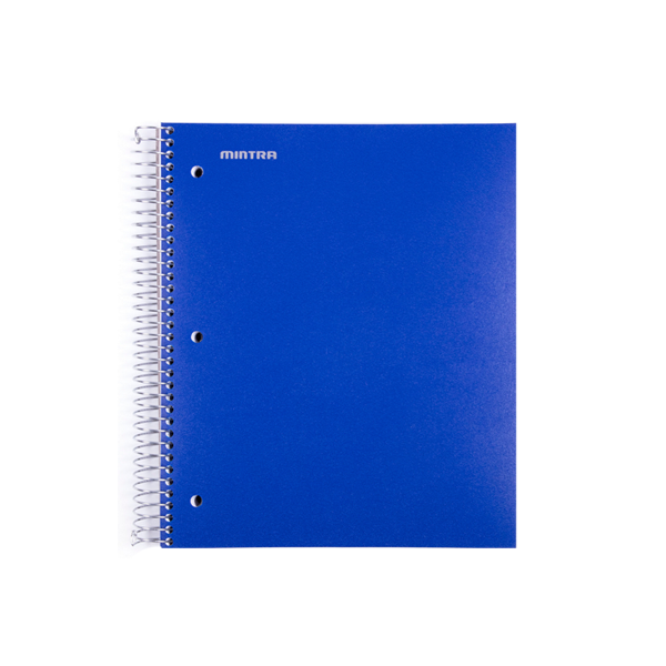 Image For Mintra Spiral Single Subject Notebook, Royal