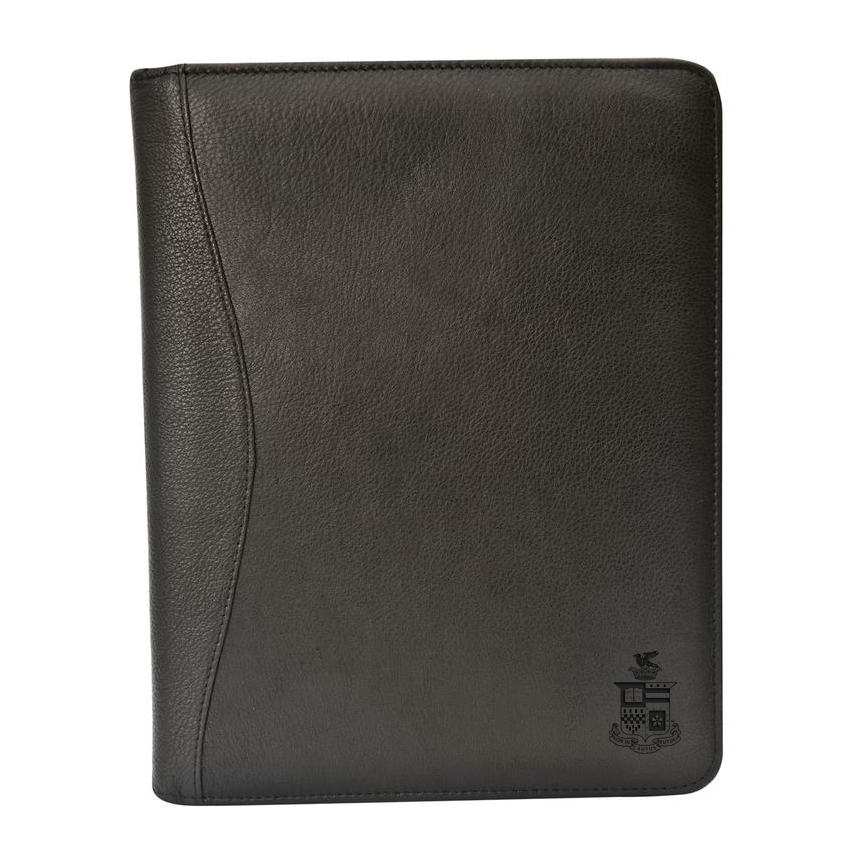 Image For Canyon Leather Red Rock Padfolio, Black